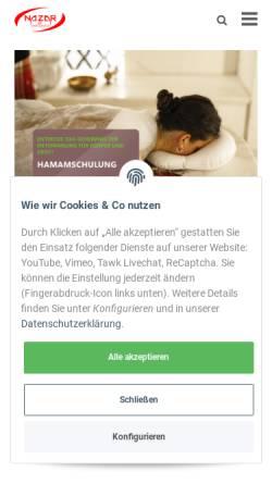 Vorschau der mobilen Webseite nazar-wellness.de, Nazar Wellness, Ismayil Dogu