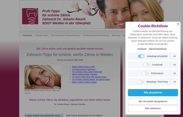 Vorschau von www.schoene-weisse-zaehne-weiden.de, Zahnarztpraxis Dr. Rauch in Weiden in der Oberpfalz