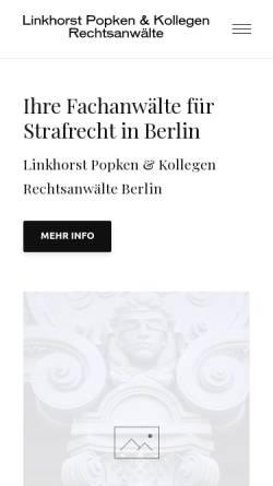 Vorschau der mobilen Webseite www.strafverteidiger-berlin.info, Linkhorst Popken & Koll.