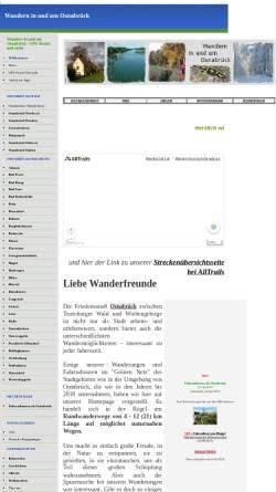 Vorschau der mobilen Webseite wanderungenimosnabrueckerland.npage.de, Wandern in und um Osnabrück