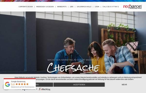 Vorschau von www.red-baron.de, red baron werbeagentur