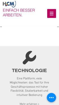 Vorschau der mobilen Webseite www.collaboration-park.com, HCM CustomerManagement GmbH