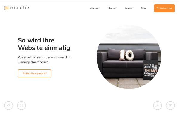 Vorschau von www.norules-webdesign.de, Jens Reichert - No Rules Webdesign