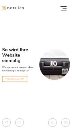 Vorschau der mobilen Webseite www.norules-webdesign.de, Jens Reichert - No Rules Webdesign
