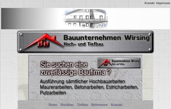 Vorschau von www.bau-eisenach.de, Bauunternehmen Wirsing