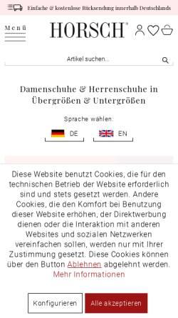 Vorschau der mobilen Webseite www.horsch-shop.de, Horsch