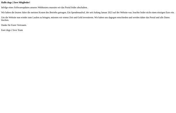 Vorschau von www.dogs-2-love.com, dogs2love - Online Dating für Hundeliebhaber