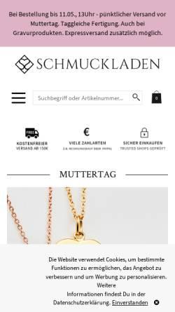 Vorschau der mobilen Webseite www.schmuckladen.de, Schmuckladen