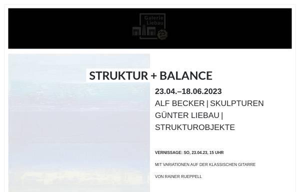 Vorschau von www.galerie-liebau.de, Galerie Liebau