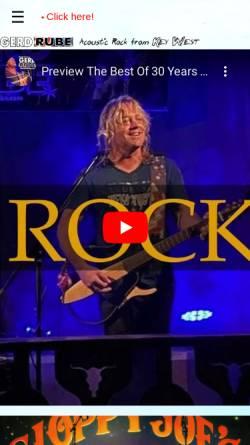 Vorschau der mobilen Webseite www.gerdrube.com, Rube, Gerd - American Acoustic Rocksolist