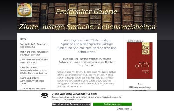 Vorschau von www.freidenker-galerie.de, Freidenker Galerie - Humor und Satire - Kunst und Philosophie