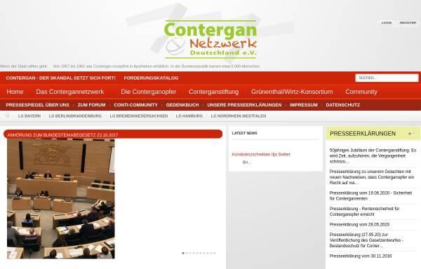 Vorschau von www.contergannetzwerk.de, Contergannetzwerk Deutschland e.V.