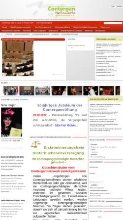 Vorschau der mobilen Webseite www.contergannetzwerk.de, Contergannetzwerk Deutschland e.V.