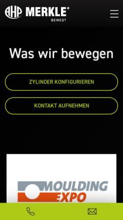 Vorschau der mobilen Webseite de.ahp.de, AHP Merkle GmBH