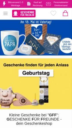 Vorschau der mobilen Webseite www.geschenkefuerfreunde.de, Geschenke für Freunde