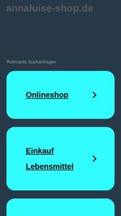 Vorschau der mobilen Webseite www.annaluise-shop.de, anna luise - Erlesene Aromen des Orients