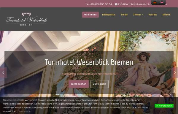 Vorschau von www.turmhotel-weserblick-bremen.de, Turmhotel Weserblick Bremen