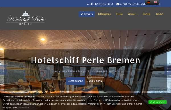 Vorschau von www.hotelschiff-perle-bremen.de, Hotelschiff Perle Bremen