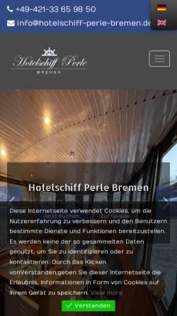 Vorschau der mobilen Webseite www.hotelschiff-perle-bremen.de, Hotelschiff Perle Bremen