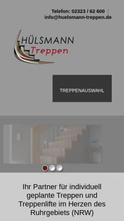 Vorschau der mobilen Webseite www.huelsmann-treppen.de, Hülsmann Treppen