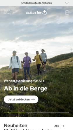 Vorschau der mobilen Webseite www.sport-schuster.de, Sport Schuster