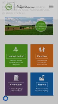 Vorschau der mobilen Webseite www.mr-kraichgau.de, Maschinenring und Betriebshilfsdienst Kraichgau e. V.