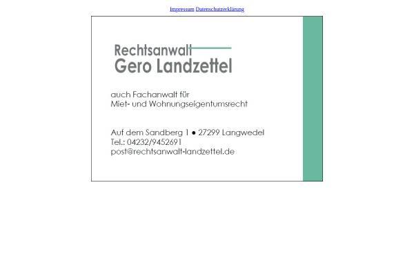 Vorschau von www.rechtsanwalt-landzettel.de, Rechtsanwalt Gero Landzettel, Fachanwalt für Miet- und Wohnungseigentumsrecht