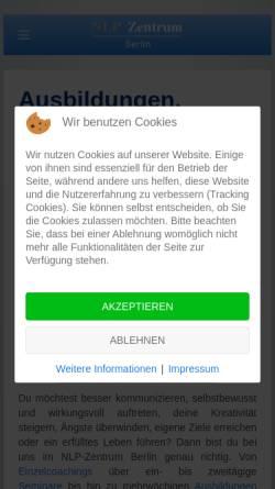 Vorschau der mobilen Webseite nlp-zentrum-berlin.de, NLP-Zentrum Berlin