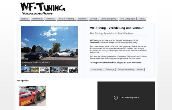 Vorschau von www.wf-tuning.de, WF Tuning GbR - Veredelung & Verkauf