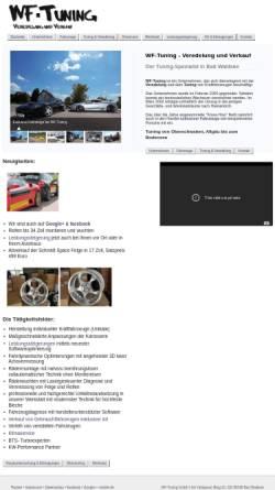 Vorschau der mobilen Webseite www.wf-tuning.de, WF Tuning GbR - Veredelung & Verkauf