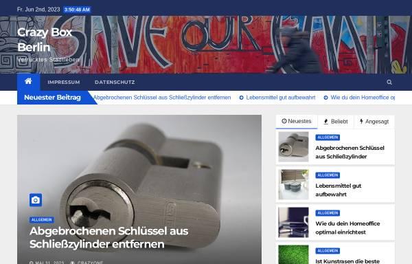 Vorschau von www.crazy-box-berlin.de, Crazy Box Berlin