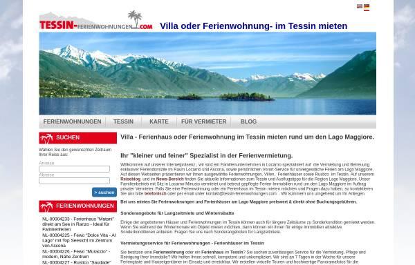 Vorschau von www.tessin-ferienwohnungen.com, Tessin-Ferienwohnungen