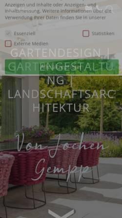 Vorschau der mobilen Webseite www.gundb-gartendesign.de, G&B Gartendesign