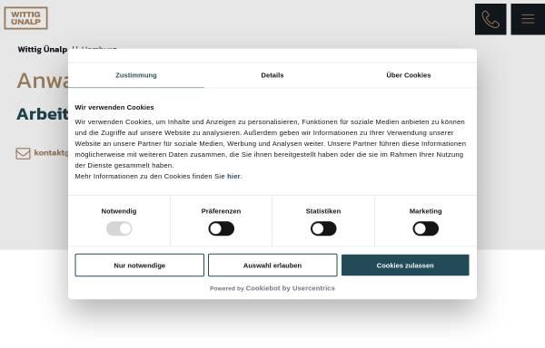 Vorschau von www.arbeitsrecht-fachanwaelte-hamburg.de, Wittig Ünalp Rechtsanwälte GbR
