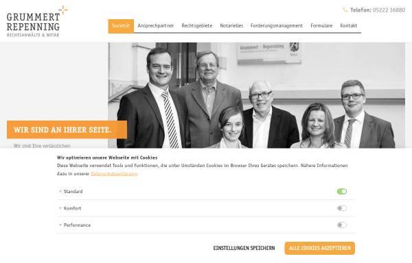 Vorschau von www.grummert-repenning.de, Kanzlei Grummert + Repenning