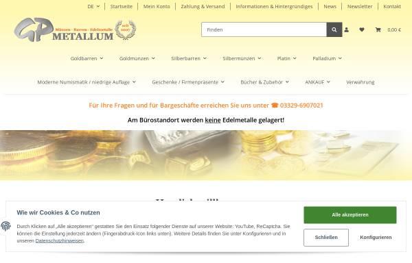 Vorschau von www.gp-metallum.de, GP-METALLUM, Gerd Poskowski