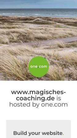 Vorschau der mobilen Webseite www.magisches-coaching.de, Dana Goetze, Effizientes Paarcoaching zu Hause mit viel Zeit