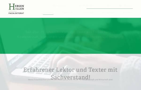 Vorschau von www.fachlektorat-hamburg.de, Hergen Hillen Fachlektorat für Wissenschaft & Wirtschaft