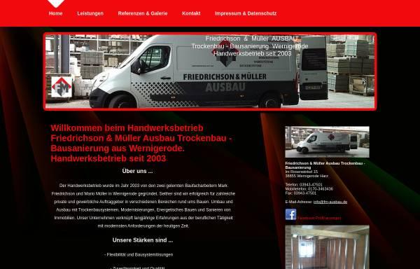 Vorschau von www.fm-ausbau.de, F & M Ausbau Friedrichson & Müller