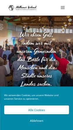 Vorschau der mobilen Webseite muelheimer-verband.de, Mülheimer Verband freikirchlich-evangelischer Gemeinden