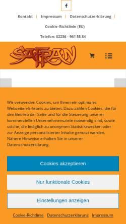 Vorschau der mobilen Webseite www.safran-gewuerzbasar.de, Safran Rodenkirchener Gewürzbasar