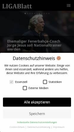 Vorschau der mobilen Webseite www.tsv-birkach.de, LIGABlatt - Fußball zur Stunde!