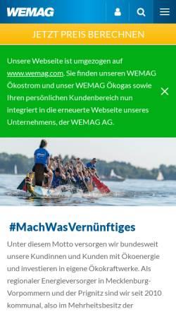 Vorschau der mobilen Webseite www.wemio.de, Wemio