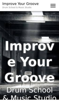 Vorschau der mobilen Webseite improve-your-groove.de, Drum School & Keyboard Studio Merzig