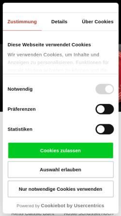 Vorschau der mobilen Webseite www.butch.de, Butch - Für Helden am Herd