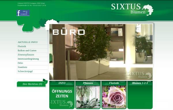 Vorschau von www.sixtus-blumen.at, Sixtus Blumen Wörgl