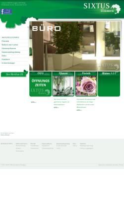 Vorschau der mobilen Webseite www.sixtus-blumen.at, Sixtus Blumen Wörgl