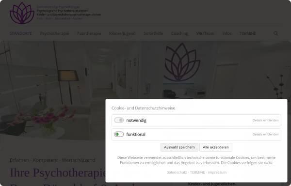 Vorschau von www.praxis-potreck.de, Potreck & Kollegen - Privatpraxen für Psychotherapie