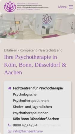 Vorschau der mobilen Webseite www.praxis-potreck.de, Potreck & Kollegen - Privatpraxen für Psychotherapie