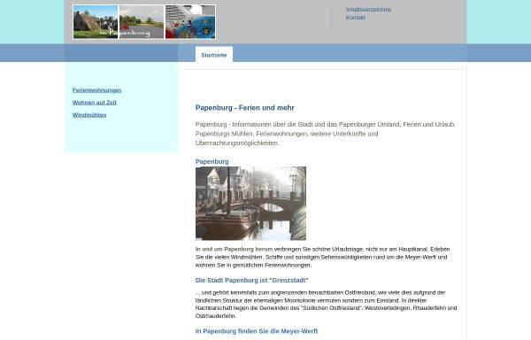 Vorschau von www.in-papenburg.de, In Papenburg